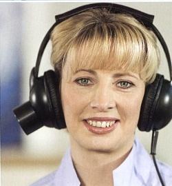 Informatiepatronen worden via koptelefoon gemeten