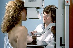 Als preventief onderzoek borstkanker wordt ook mammografie gedaan.
