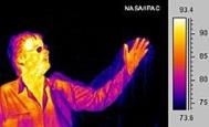 infrarood warmtestraling gefotografeerd