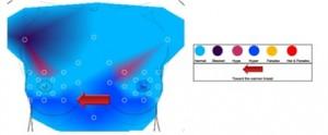 Infrarood regulatiethermografie maakt de temperaturen zichtbaar en geeft een analyse